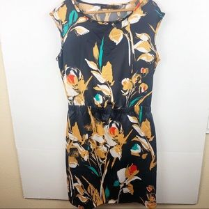 The Limited Blue Dress with yellow floral Small